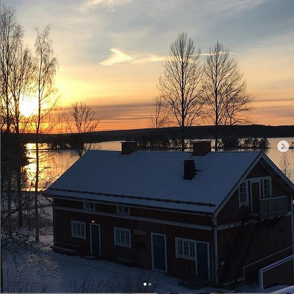 Bild på Lägergården Masmästaren under vintern.