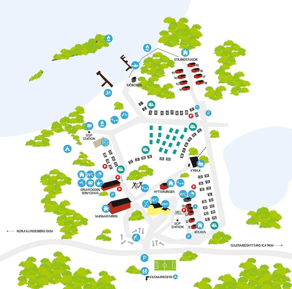 Uskavigården Översiktskarta