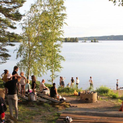 bad camping kanot kajak